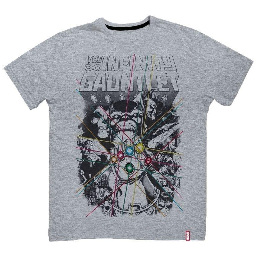 Gauntlet Thanos Guerra Camiseta Infinita Cinza Infinity Camiseta Marvel Marvel 0agXFFx