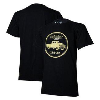 Camiseta Masc. Chevrolet Classics 1914 - Preta