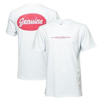 Camiseta Masc. Chevrolet Genuine - Branca