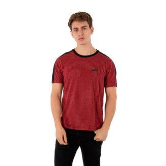 Camiseta Masculina Básica Faixa No Stress - VERDE - P