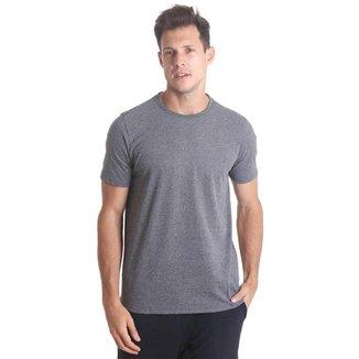 Camiseta Masculina Básica Mescla - Preto - M