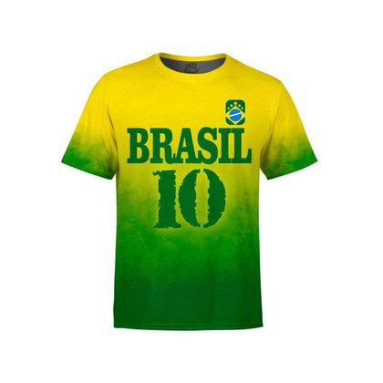 Camiseta Masculina Brasil Md04 - GG