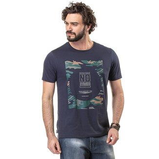 Camiseta Masculina Estampa Camuflada No Stress - GRAFITE - M