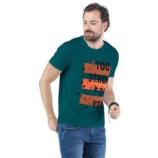 Camiseta Masculina Estampa Too Strong TZE -  PRETO - M