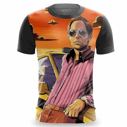 Camiseta Masculina Estampada Agostinho Taxista Camisa Grande Família