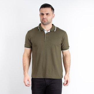 Camiseta masculina gola polo manga curta 90218