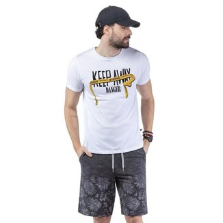 Camiseta Masculina Keep Away Malhas Treze - AZUL MARINHO - M