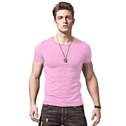 Camiseta Masculina Slim Fit Camisa Justa
