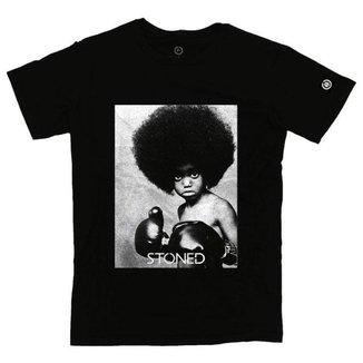 Camiseta Masculina Stoned Black Power Masculina