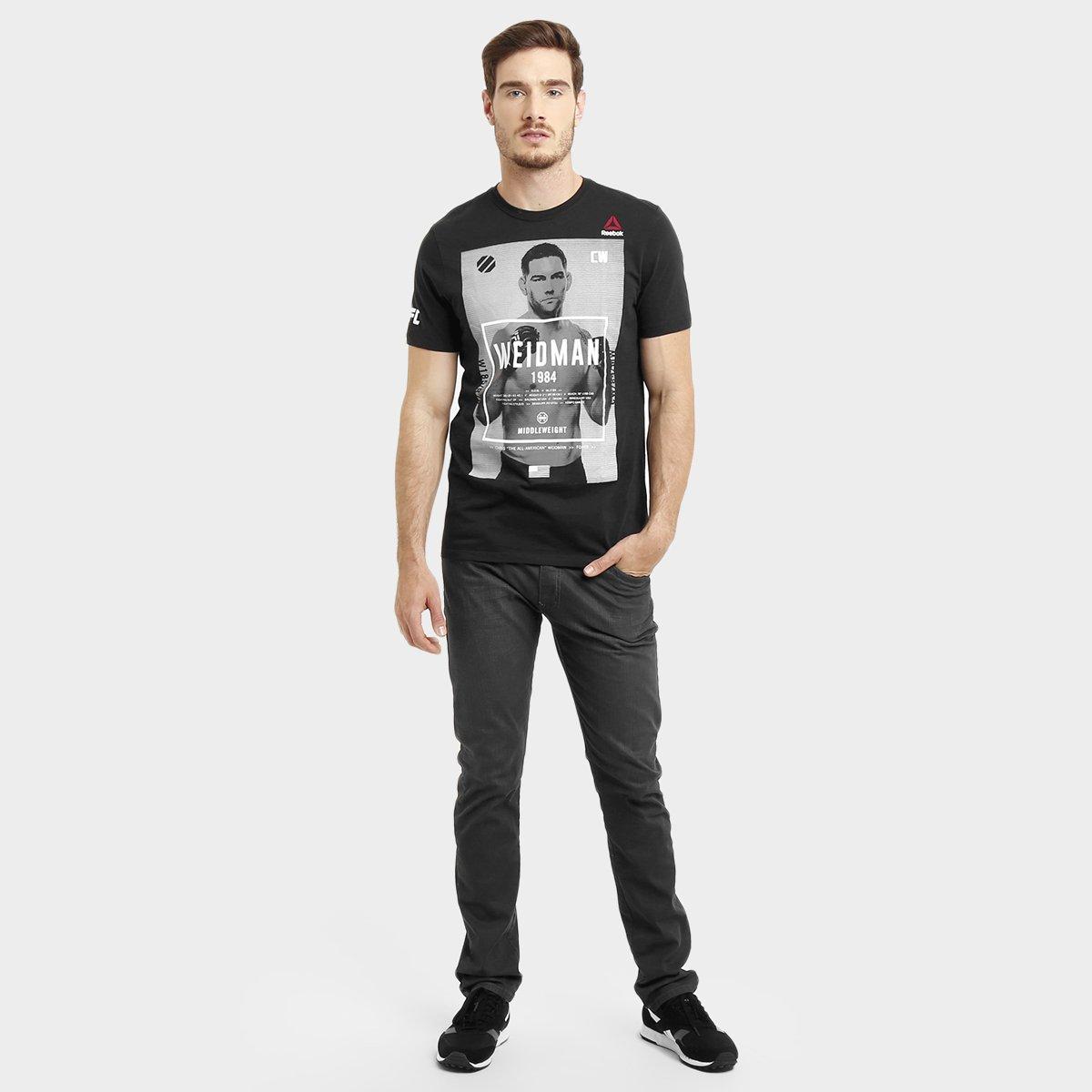 299e292e8d Camiseta Masculina UFC Reebok Weidman - Preto - Compre Agora