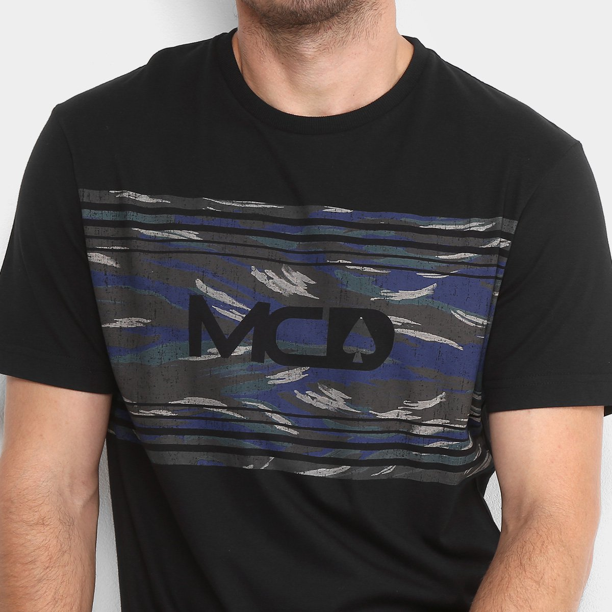 Camiseta MCD Camouflage Masculina - Preto - Compre Agora  edbef61c7d8