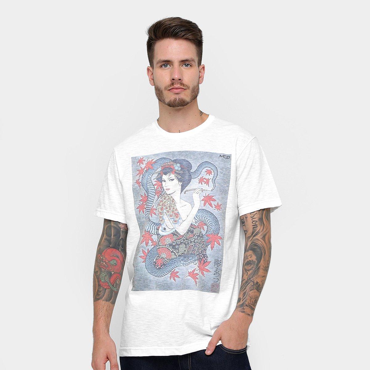 e810c9681db6f Camiseta MCD Especial Body Tattoo Gueixa Christian Ar Masculina - Compre  Agora