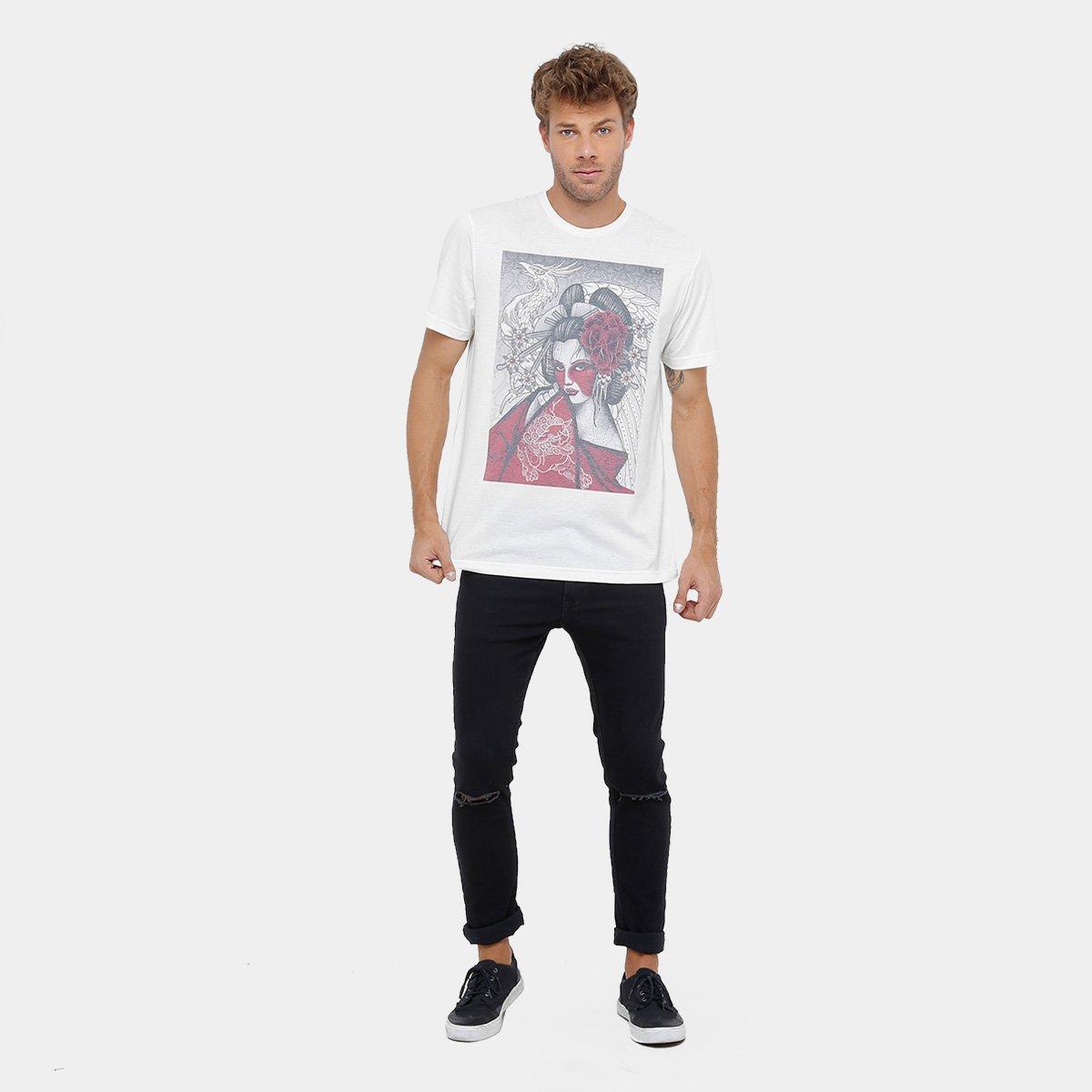 Camiseta MCD Especial Body Tattoo Gueixa Hiro Masculina - Compre ... e42e28a147b