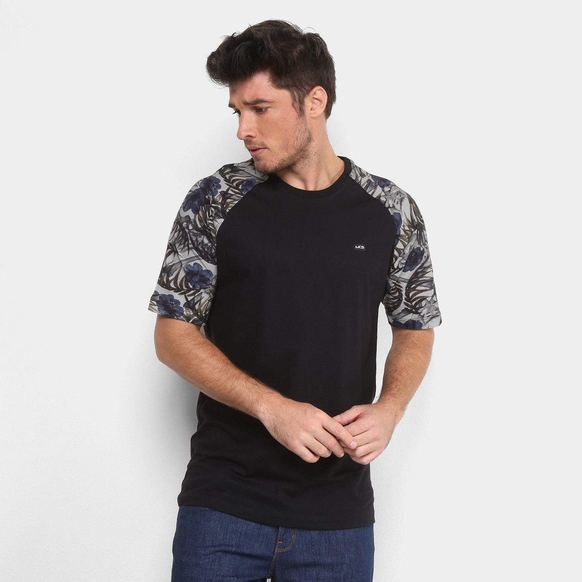 Camiseta MCD Especial Tropical Bones Masculina - Azul - Compre Agora ... 95ff982b479
