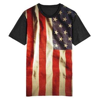 Camiseta Migian Bandeira Estados Unidos Sublimada Masculina