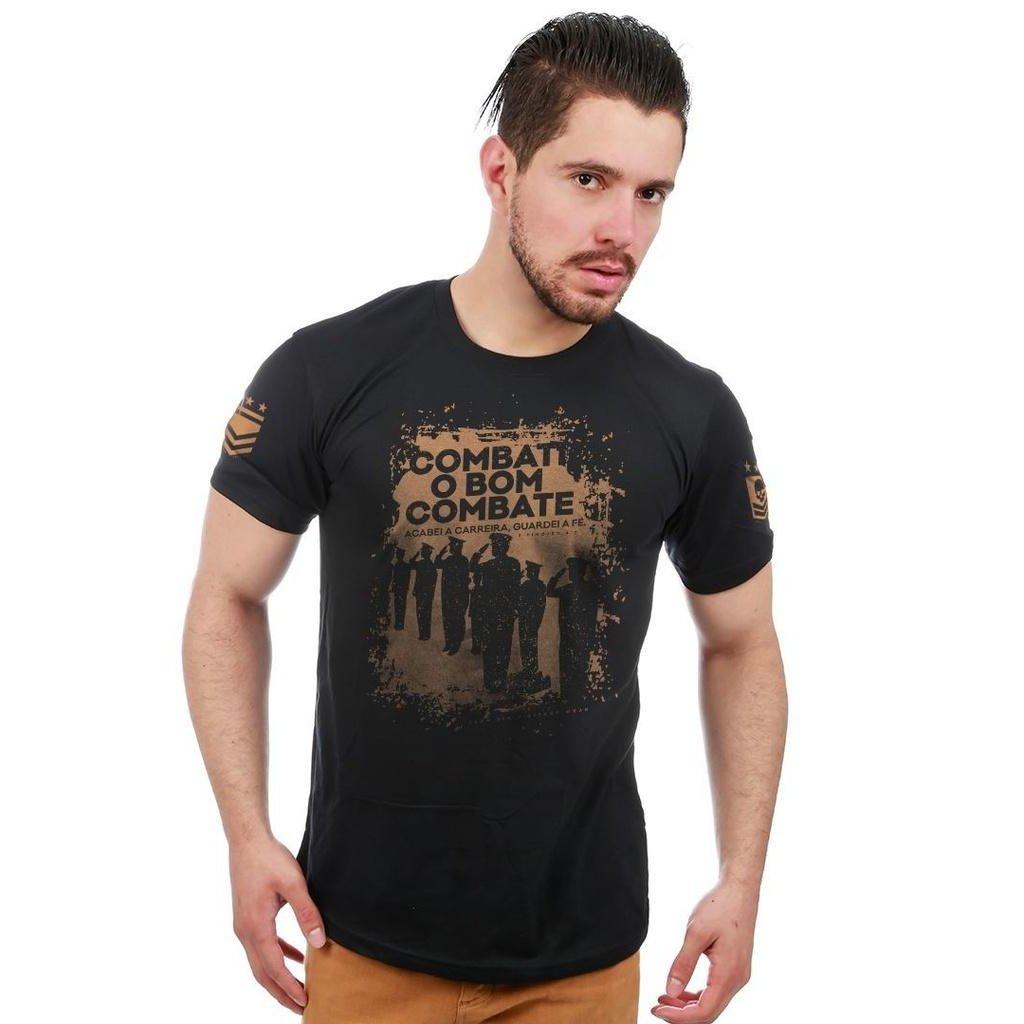 ca045ee3c5 Camiseta Militar Honor Combati o Bom Combate Acabei a Carreira Guardei a Fé