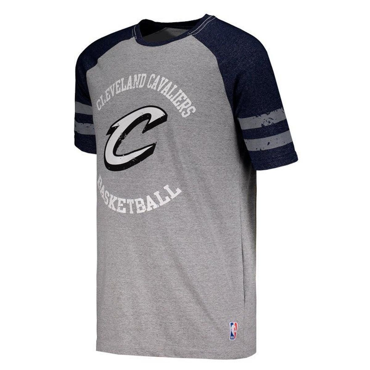 Camiseta Mitchell   Ness NBA Cleveland Cavaliers Masculina - Cinza ... f89cc0cb1a0da