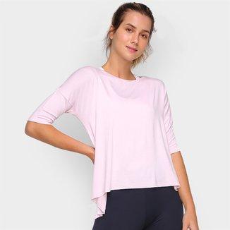 Camiseta Mizuno Assimétrica Feminina