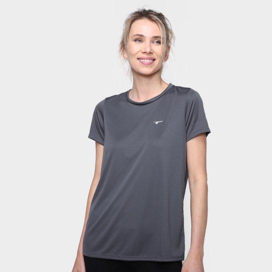 Camiseta Mizuno Energy Melange Feminina - Cinza