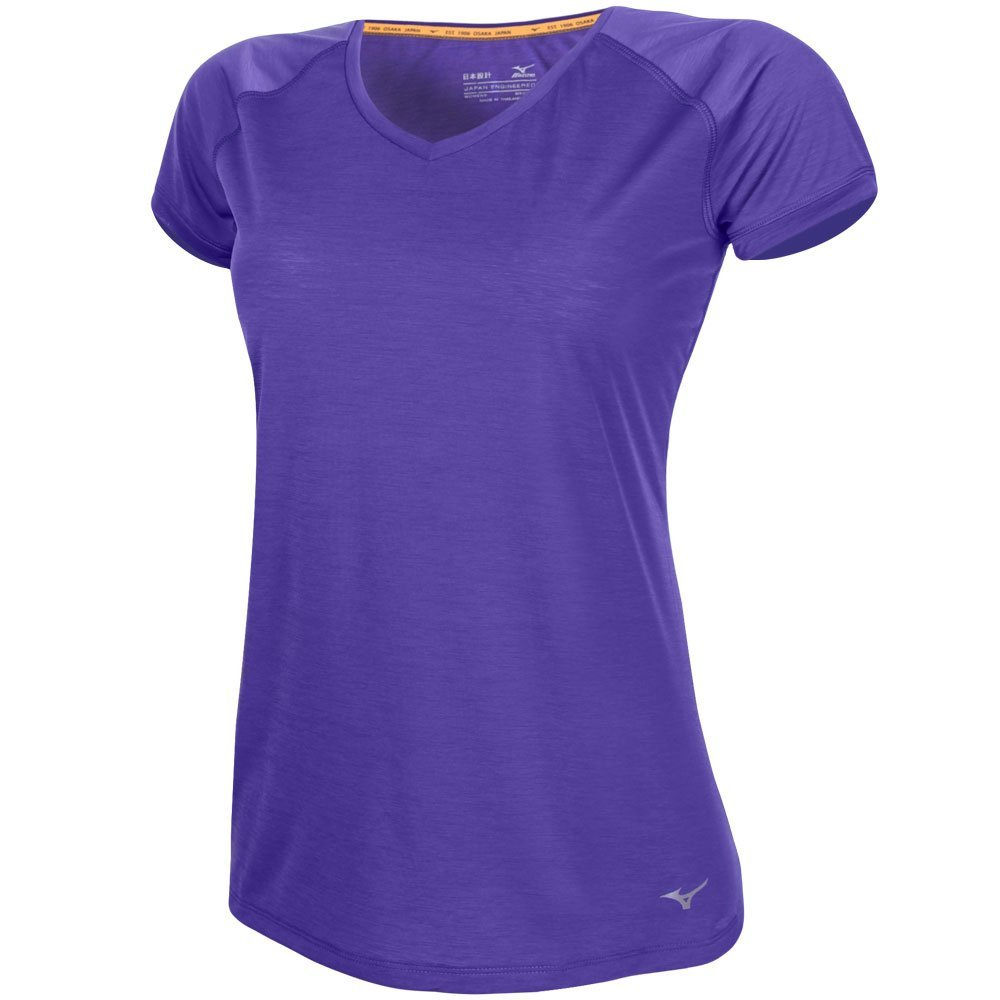 Mizuno Feminina Active Active Camiseta Roxo Roxo Feminina Mizuno Camiseta qwFOxRUPa