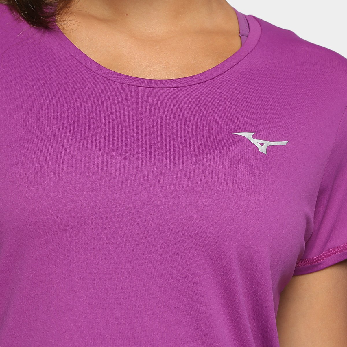 Feminina Camiseta Proteção com Mizuno Camiseta Mizuno Pro Violeta UV f0nx5qwA6