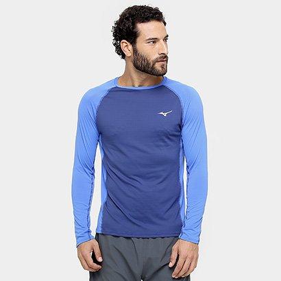 Camiseta Mizuno Run Pro Com Proteção UV Manga Longa Masculina