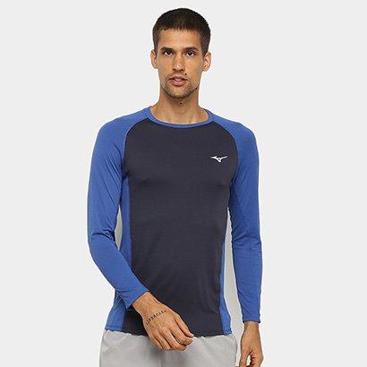 Camiseta Mizuno Run Pro Com Proteção UV Manga Longa Masculina - Masculino