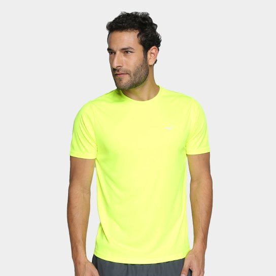 Camiseta Mizuno Run Spark 2 Masculina - Amarelo Claro