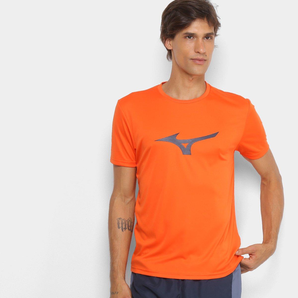 Camiseta Mizuno Run Spark Masculina - Laranja e Cinza - Compre Agora ... a204d4b284a