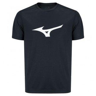 Camiseta Mizuno Spark Masculina - Preto e Laranja