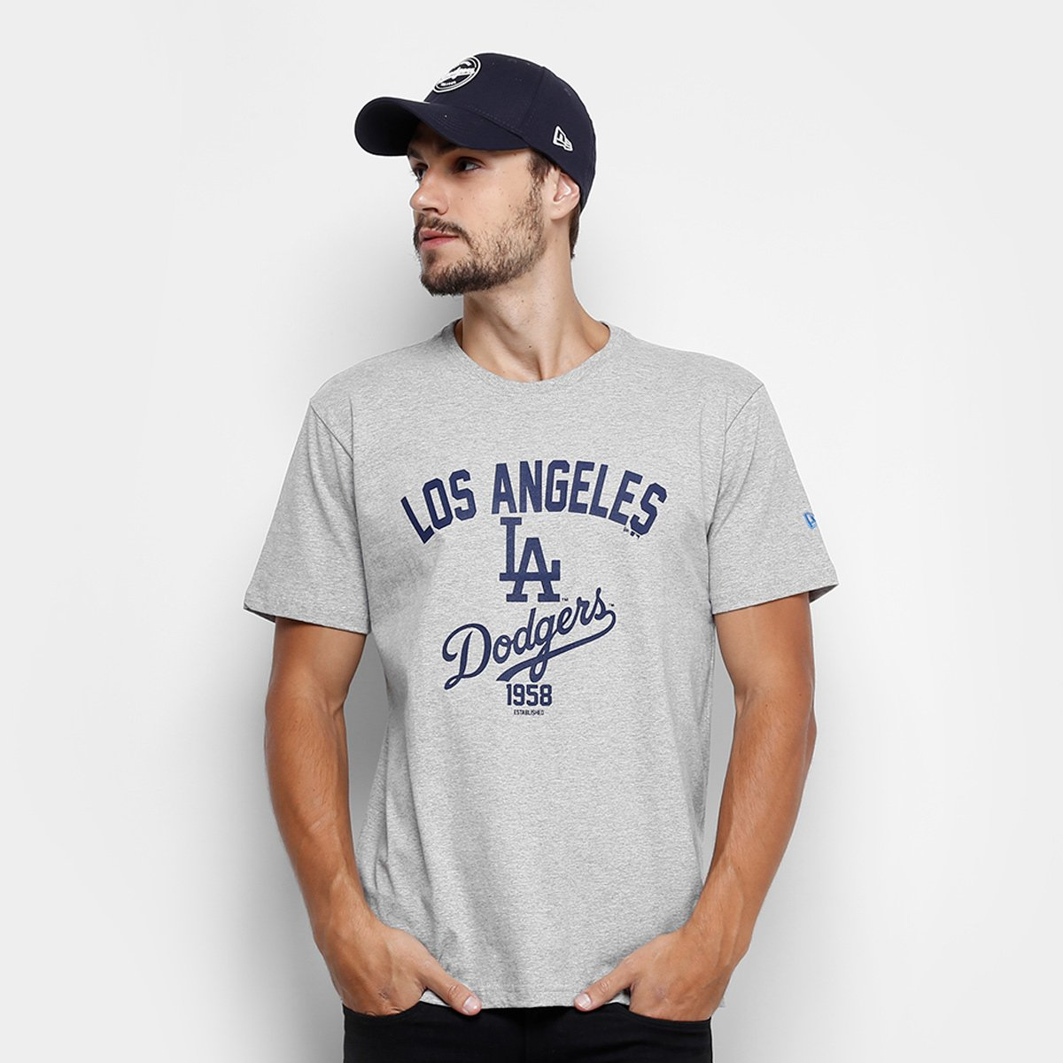 c63993026548a Camiseta MLB Los Angeles Dodgers New Era Righ 3 Masculina - Compre Agora