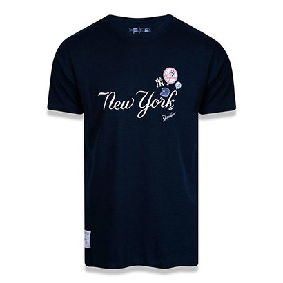 Camiseta MLB New York Yankees New Era Logomania Logos Masculina
