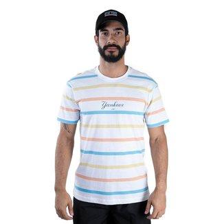 Camiseta Mlb New York Yankees  Stripe Full New Era Masculina