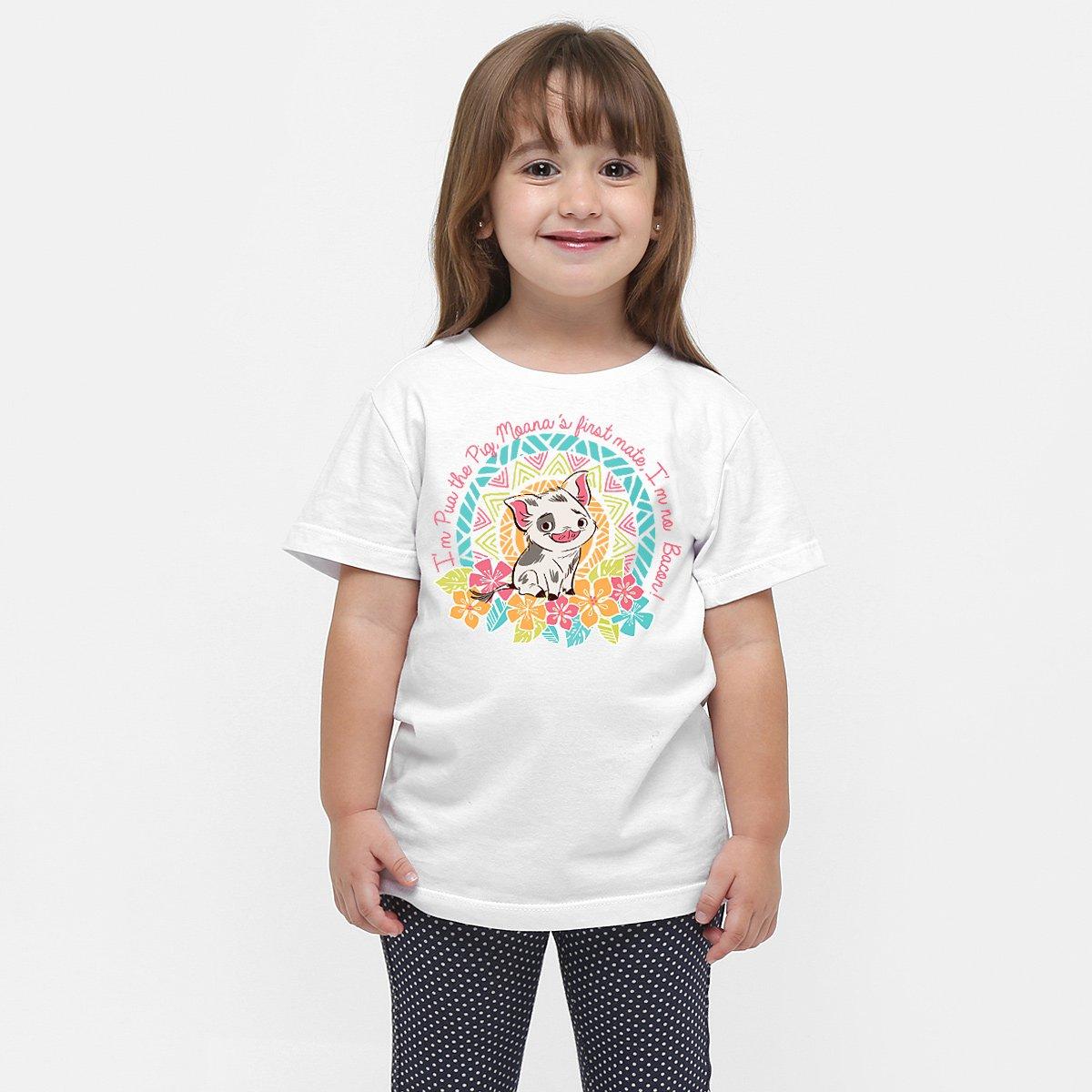Camiseta Moana Pua Camiseta Branco Infantil Branco Pua Infantil Moana Camiseta YwY1q