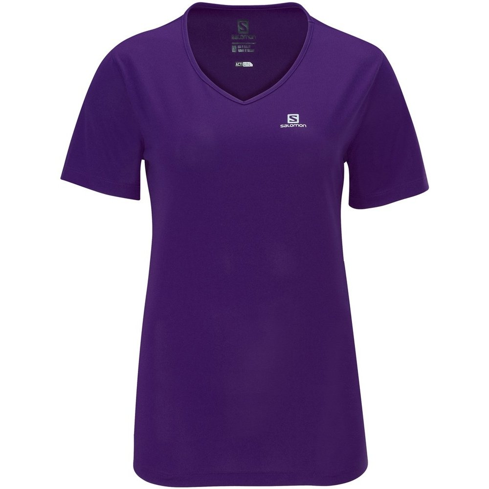 Roxo Camiseta Salomon Camiseta Roxo Moto Tech Moto w0Up4qg