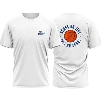 Camiseta NBA Basketball School - #Somosumtime Front And Back