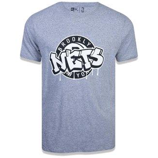Camiseta NBA Brooklyn Nets Arte Grafite