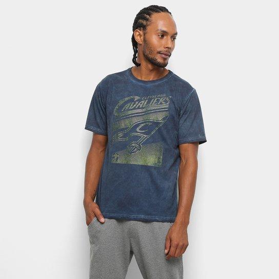 Camiseta NBA Cavaliers Marmorizada 17 Masculina - Marinho