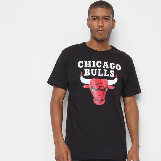 Camiseta NBA Chicago Bulls Big Logo Masculina - Preto