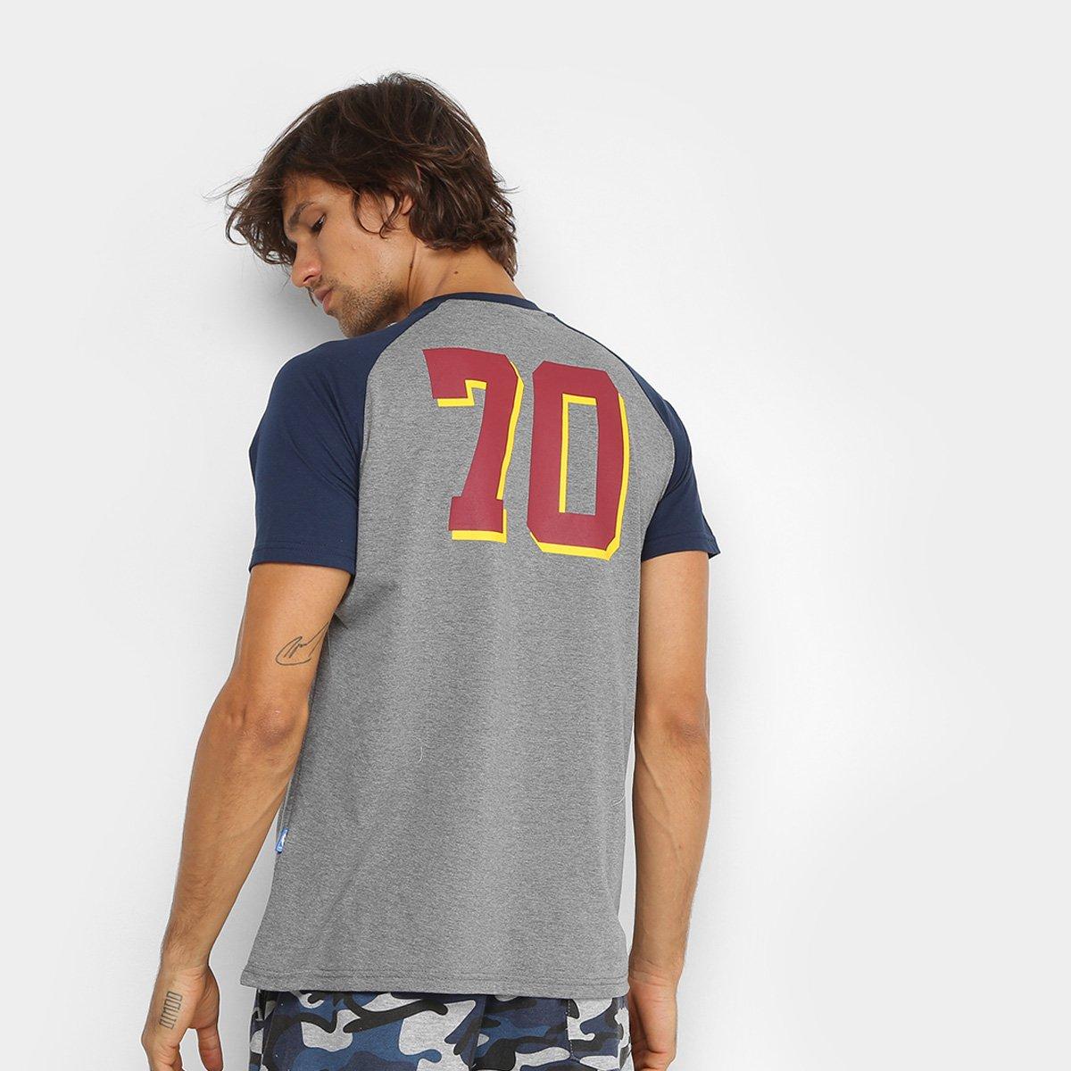 Camiseta NBA Cleveland Cavaliers 17 Masculina - Cinza e Marinho ... d4143033ae956