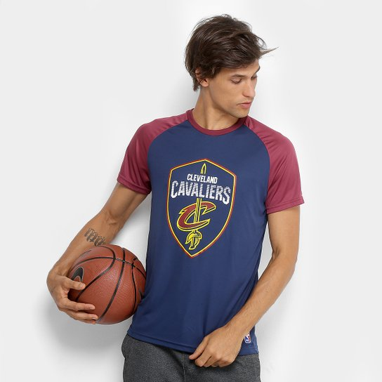 Camiseta NBA Cleveland Cavaliers Masculina - Bordô