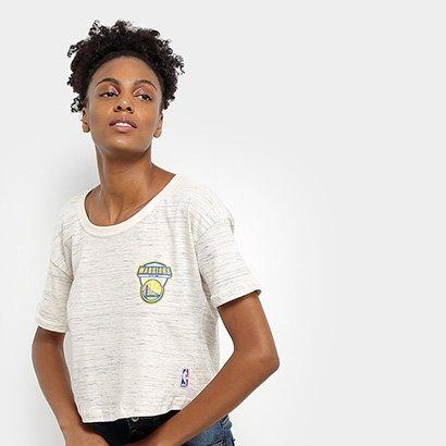 Camiseta NBA Golden State Warriors Cropped Shield Feminina