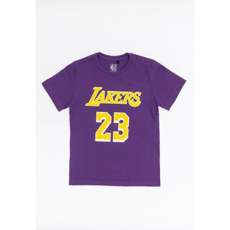 Camiseta NBA Juvenil Estampada Los Angeles Lakers Lebron James Masculino