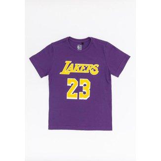 Camiseta NBA Juvenil Estampada Los Angeles Lakers Lebron James Masculino