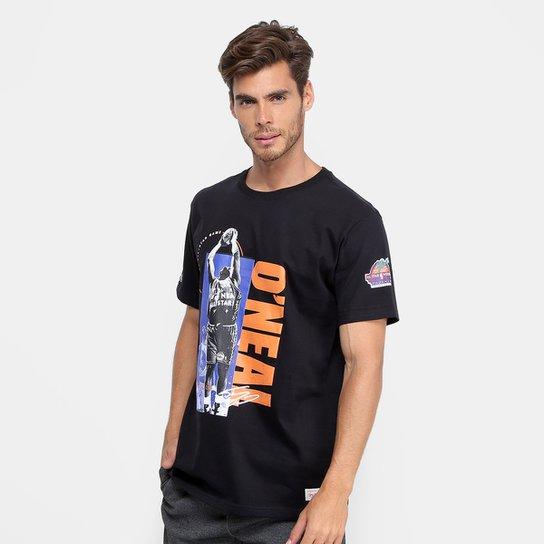 Camiseta NBA Shaquille O'Neal Mitchell & Ness Masculina - Preto