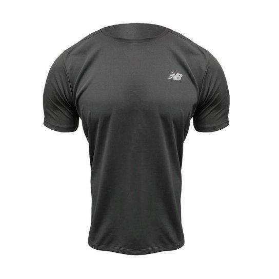 Camiseta New Balance Accelerate Masculina - Chumbo
