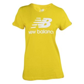 Camiseta New Balance Essetials Stacked Logo Feminino