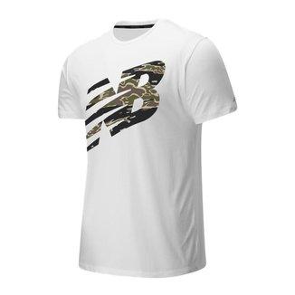 Camiseta New Balance Heathertech Masculina - Branco