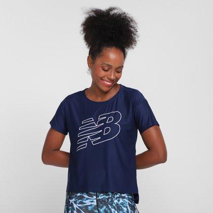 Camiseta New Balance Oversized Achiever Mesh Graphic Feminina