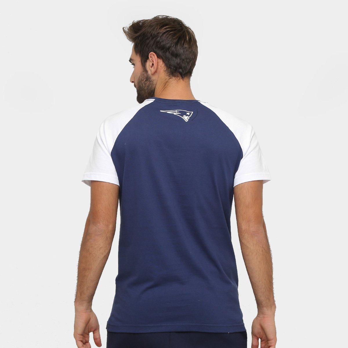 ... Camiseta New England Patriots New Era NFL Big Logo Raglan Masculina ... 0b66c3cc418b5